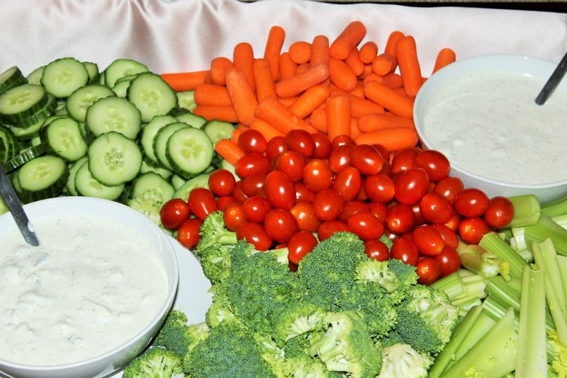 Vegetable with dressing