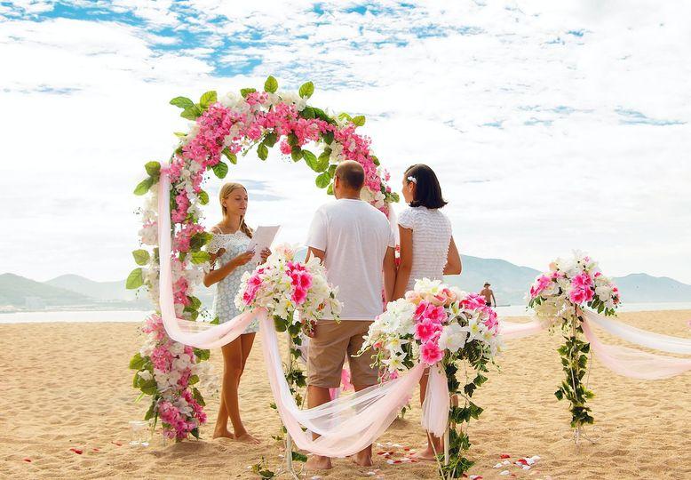 Beach wedding - Christina