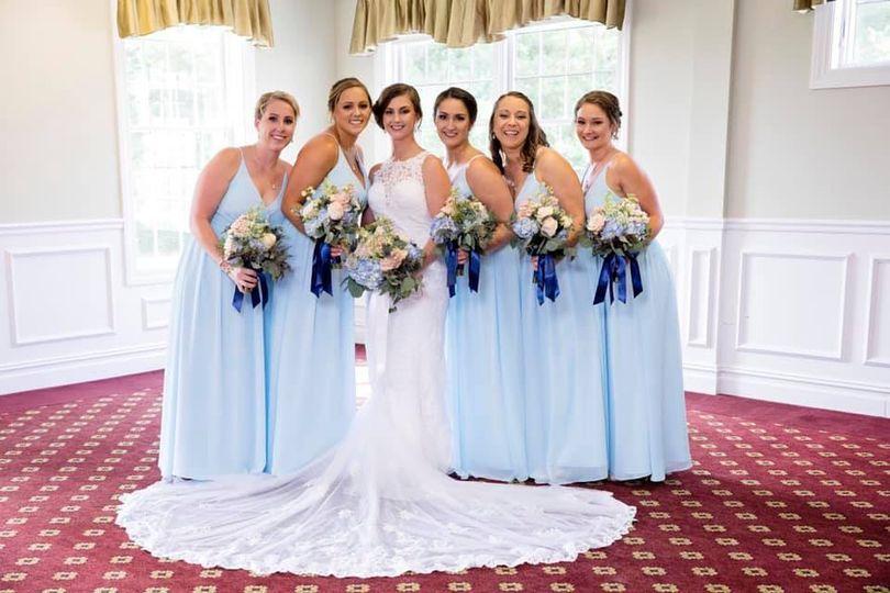 Blue dresses | 📷: DebbieSegrevephotography