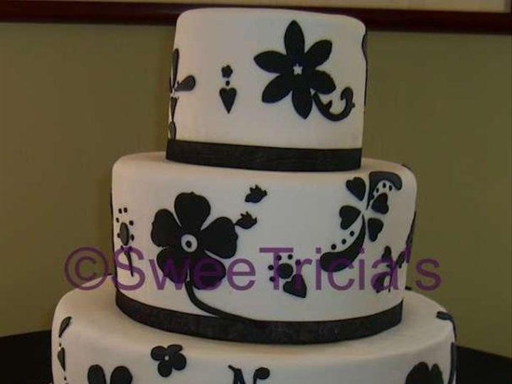 Tmx 1235521090044 Black WhiteFondantWeddingCakewtmk Atlanta wedding cake