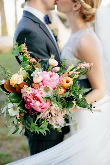 """From the Bride, Victoria, """"Go crazy with my bouquet""""  Florals - Shea Hopely Flowers Venue - Ribault..."""