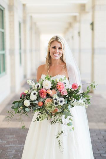 Our sweet Bride, Caitlin  Design & Florals - Shea Hopely Flowers Event Management - Flaire Weddings...
