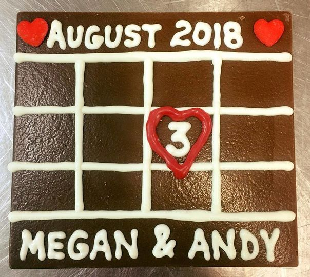 Save the Date Chocolate Calendar