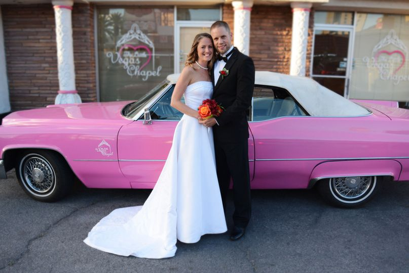c30a09a1235db574 1471733472666 little vegas chapel pink cadillac wedding