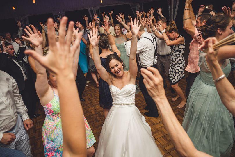 Dance floor with the bride
