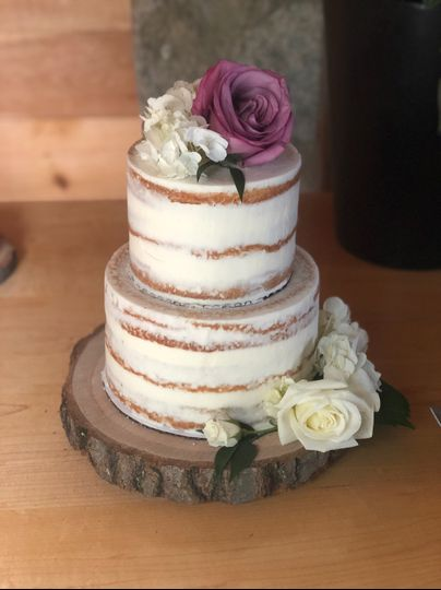 2 tiered naked cake