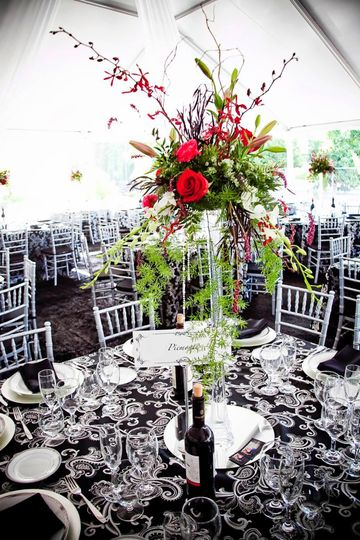 We can provide linen, flatware, china, decor, floral arrangements, etc..