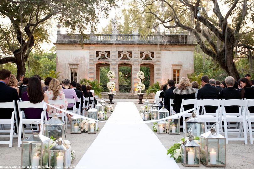 wedding florist decor miami florida vizcaya dalsim