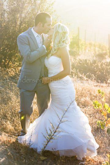 Romantic shots taken in a vineyard