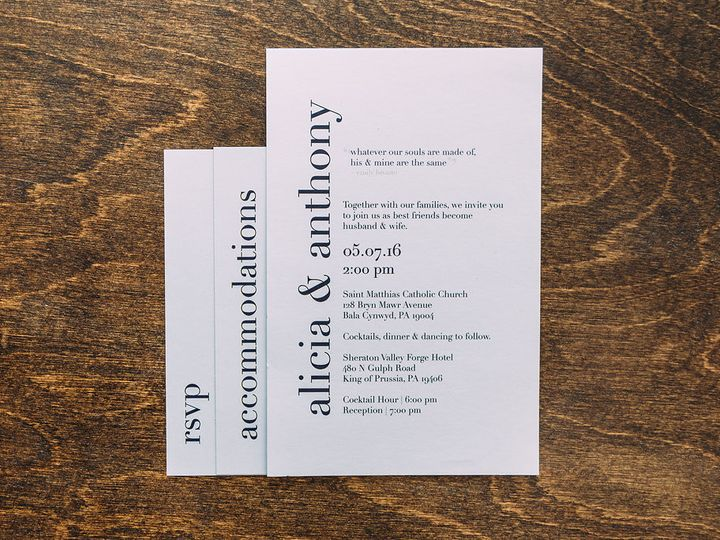 Tmx 1488750471367 Lovelilly 129 Philadelphia, PA wedding invitation
