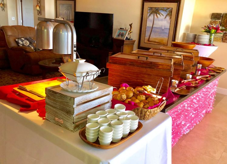 Buffet with Carving Station