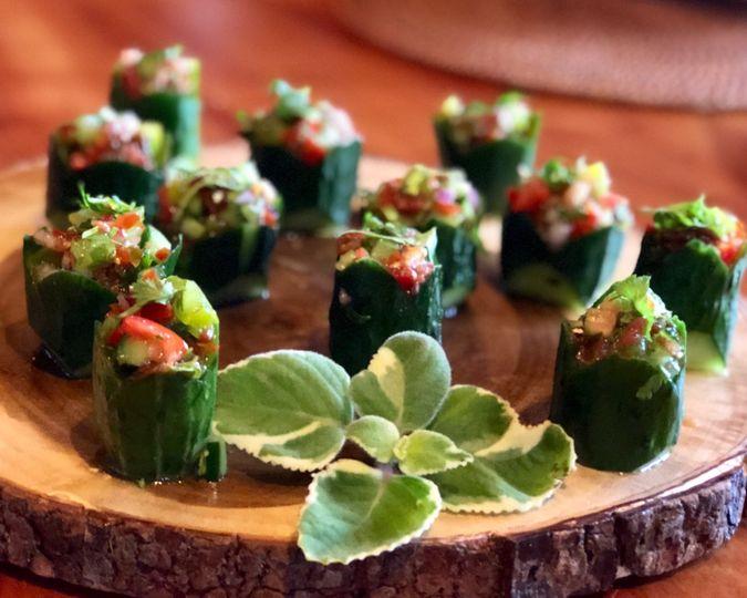 Kachumber Salad Bites