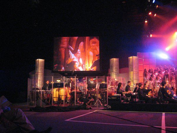 Betsy Fitzgerald, featured on the big screen at a recent performance at Walt Disney World.