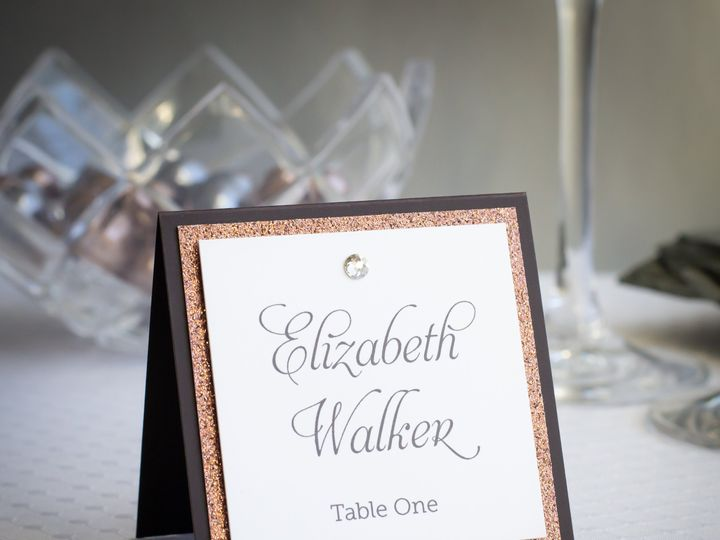 Tmx Brown Crystals Escort Cards Glitter Gray Place Cards Rhinestones Seating Cards Sparkle Square 51 1047785 V2 Sunnyvale, CA wedding invitation