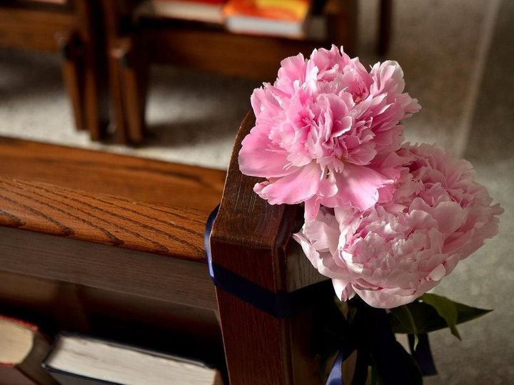 Tmx 1456366382907 Pink Peonies Church Pew Decorations Shannon Caldwell, NJ wedding florist