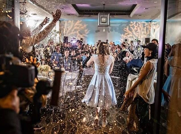 Bride enters her reception
