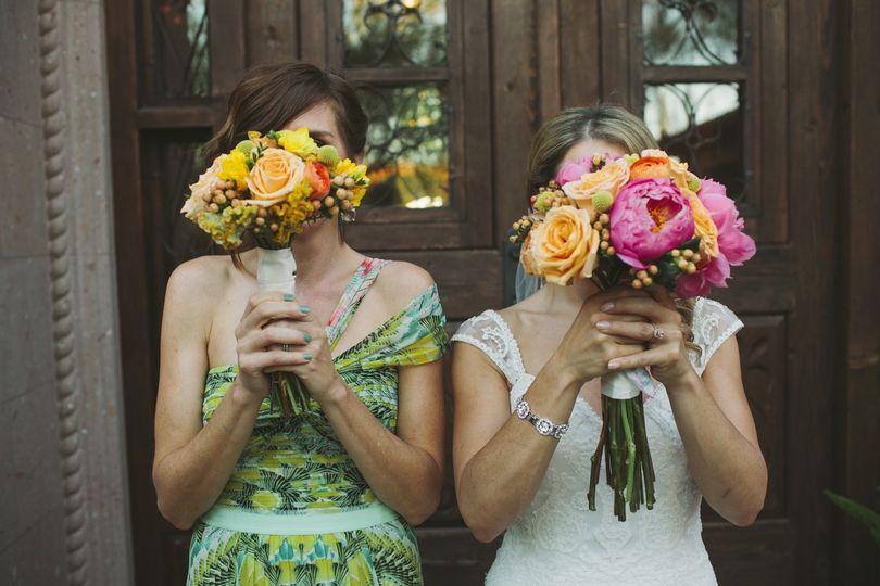 bride and brideamaid