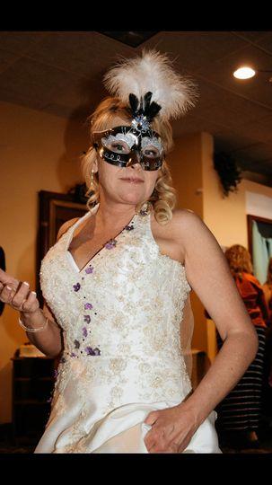 A magnificent masquerade wedding!