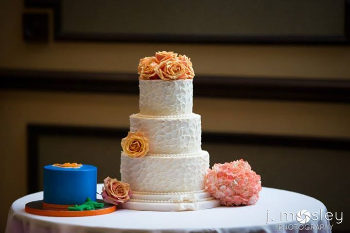 Wedding cake and a mini cake