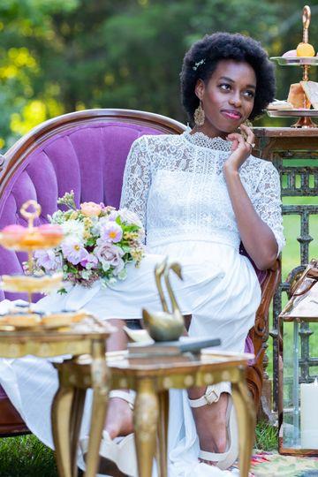 Bride relaxing