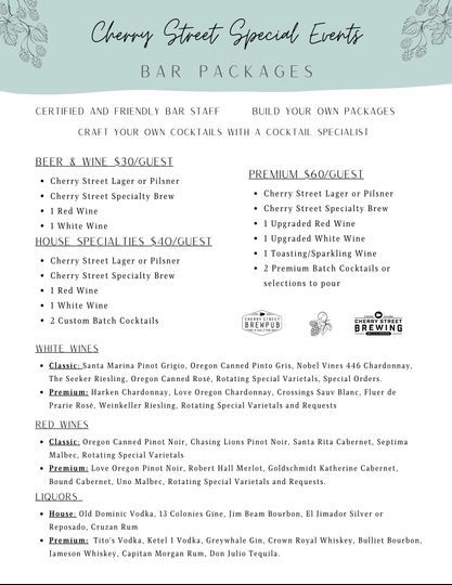 Bar Packages