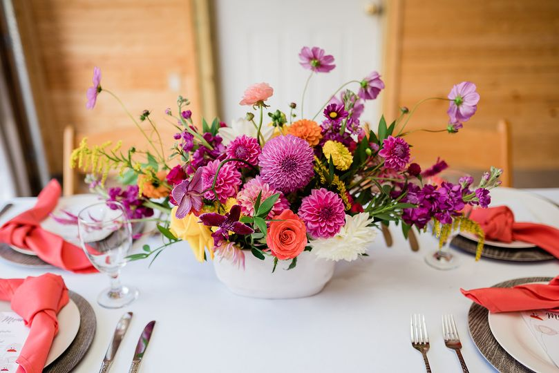Bright Vibrant Centerpiece