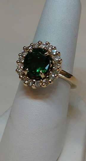 Tourmaline and diamonds