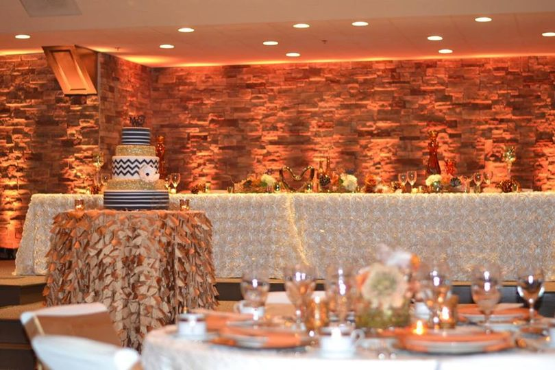 Wedding cake by the head table