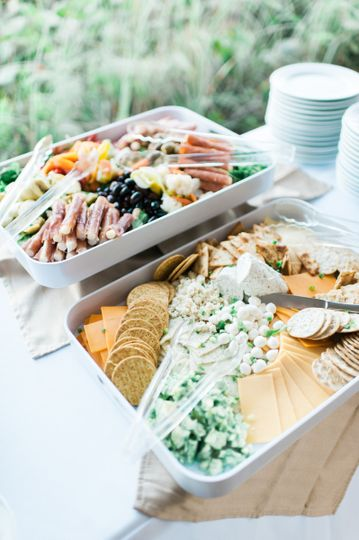 Artisan cheese and antipesto platter: stationary hors d' oeuvres