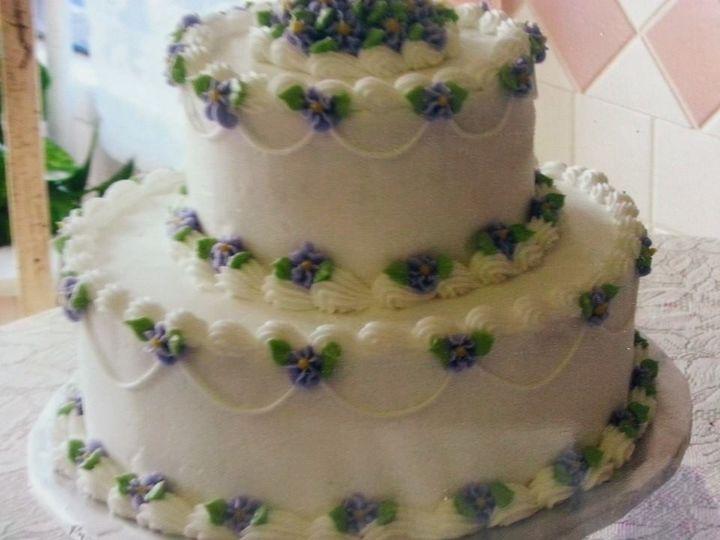 tiered purple flowers