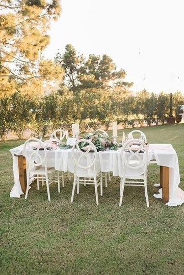 Elopement garden wedding