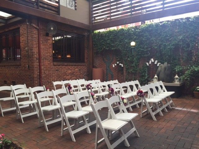Intimate ceremony space