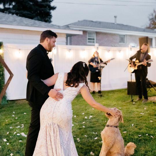 Backyard weddings are such fun