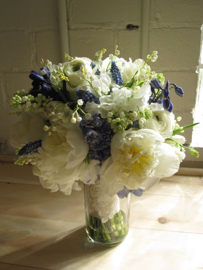 White roses and lavenders
