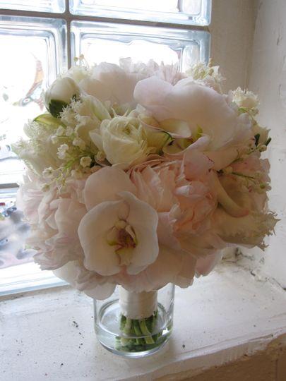 Pure white flower arrangement