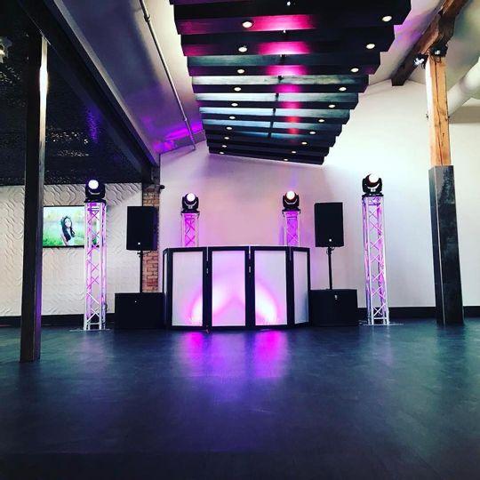 Dance floor set-up