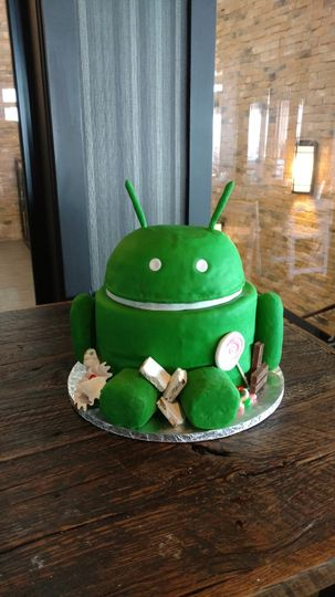 Android grooms cake