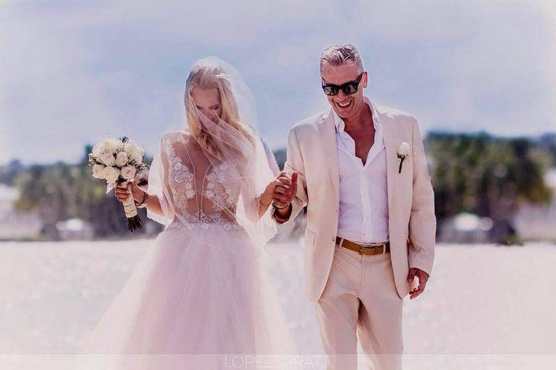 Just Married at Las Galeras