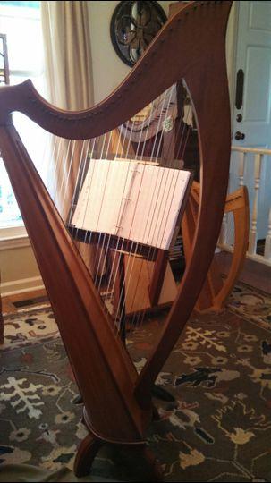 Anne's Cunningham lever harp