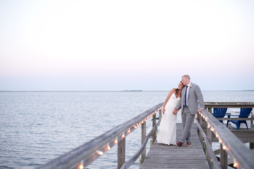 Couple's photo at the wharf