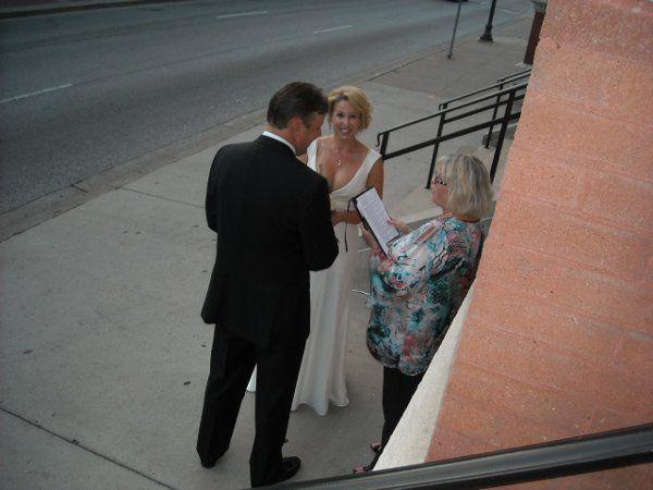 Sidewalk wedding