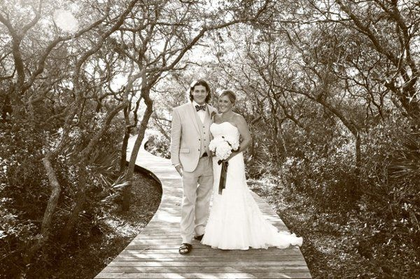Wedding in sepia