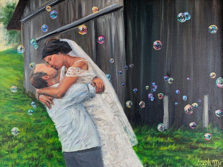 Wedding Kiss Painting