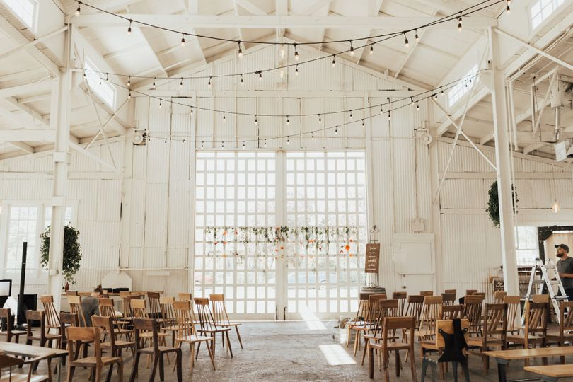 Dreamy white venue