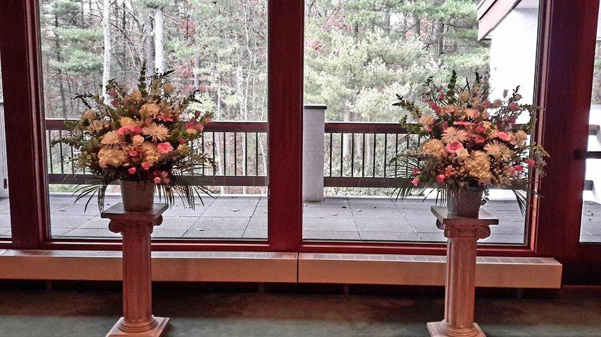Wedding aisle bouquet decor