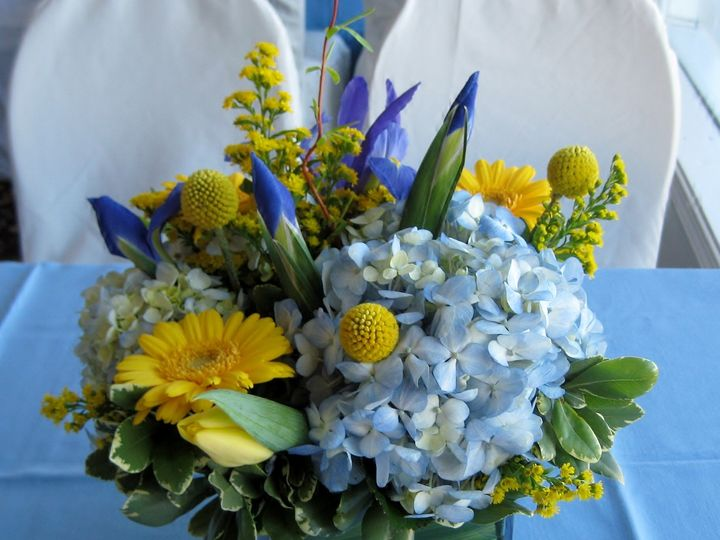 Tmx 1427135353695 Yellow N Blue Westborough wedding florist