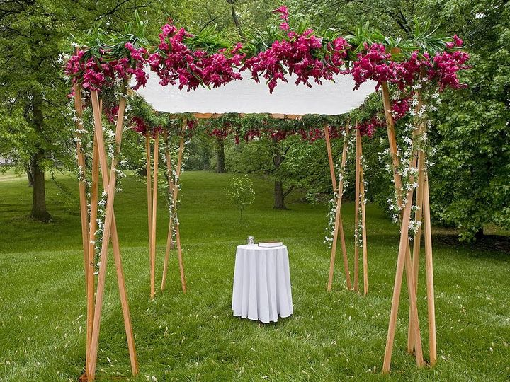 Tmx 1427140268319 Pink Floral Chuppah1 Westborough wedding florist