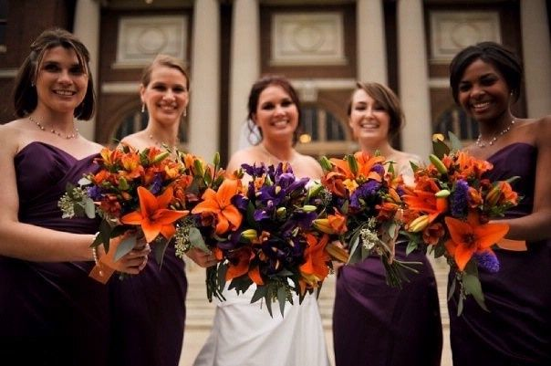 Tmx 1465853479131 Purple Wedding Flowers Orange And Purple Flowers Westborough wedding florist