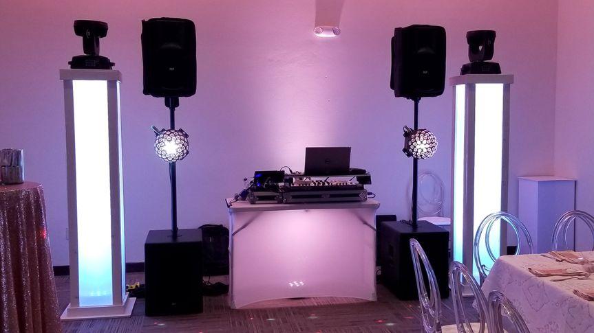 Dj setup white