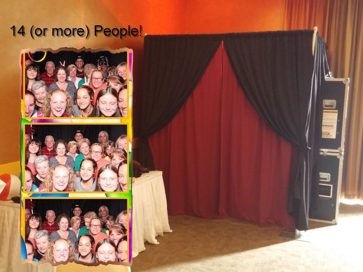 Tmx Booth 2 Promo Photo With 14 People 51 667985 Trumansburg wedding rental